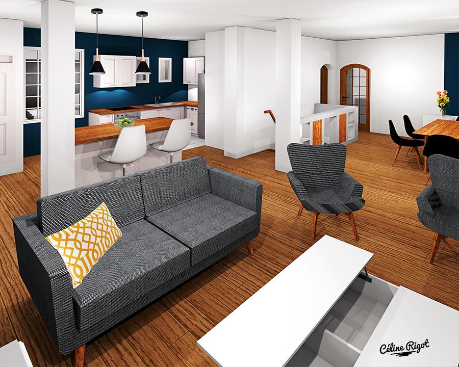 Céline Rigot architecte d'intérieur - Rénovation d'une pièce de vie